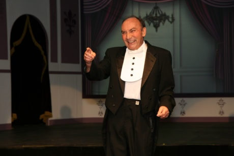 Albert Coia performs a number in The British Players' Old Time Music Hall. Photo by Simmons Design.