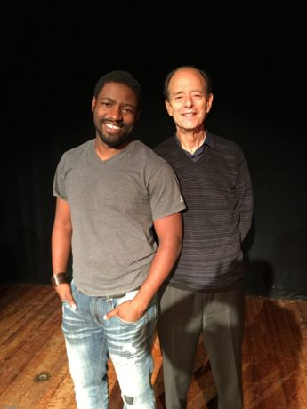 Actor Chuk Obasi and Playwright Samuel A. Simon. Photo courtesy of 'The Actual Dance.'