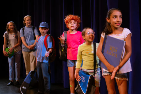 Clementine (Nyla Elder) is with her classmates as they come up with their talents for the show. Photo by Cindy Kane Photography.