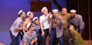 'South Pacific' plays through September 15 at Riverside Center for the Performing Arts. Photo courtesy of Riverside Center for the Performing Arts.