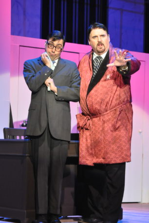 Ryan Phillips as Leo Bloom and Steve Cairns as Max Bialystock in The Little Theatre of Alexandria's production of 'The Producers.' Photo by Matthew Randall.