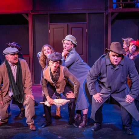 The ensemble in Prince William Little Theatre's production of 'Annie.' Photo by David Harback.