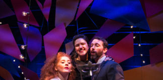 Melissa Wimbish, Aryssa Leigh Burrs, and Robert Wesley Mason in 'The Juliet Letters.' Photo by C. Stanley Photography.