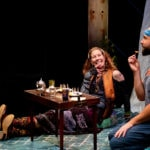 Kate Udall and Wade McCollum in 'A Welcome Guest' at Contemporary American Theater Festival. Photo by Seth Freeman.