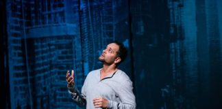 Antonio Edwards Suarez in 'Antonio's Song/I Was Dreaming of a Son' at Contemporary American Theater Festival. Photo by Seth Freeman.
