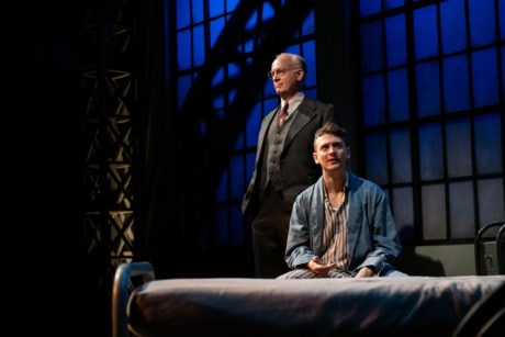 Reed Birney as Dr. Philip Cotton and Ephraim Birney as Chester Bailey in the East Coast premiere of 'Chester Bailey' at Contemporary American Theater Festival. Photo by Seth Freeman Photography.