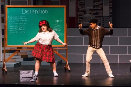 Caitlin Grant as TracyTurnblad and Christopher Polio as Seaweed J. Stubbs in Rockville Musical Theatre's production of 'Hairspray.' Photo by Stasia Steuart Photography.