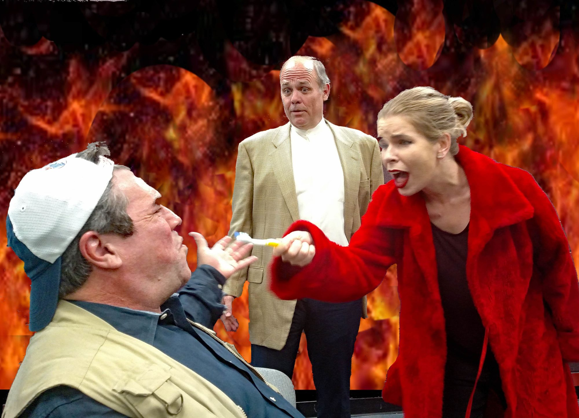 Michael Donahue as the Interrogator, William Bodie as Bobby Gould and Lindsey June as Glenna. Photo by Thomas Udlock.