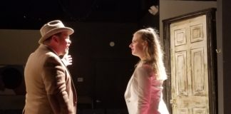 Scott D. Pafumi and Skye Lindberg in 'No Exit.' Photo courtesy of Dark Horse Theatre Company.