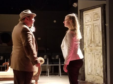 Scott D. Pafumi and Skye Lindberg in 'No Exit.' Photo courtesy of Dark Horse Theatre Company.