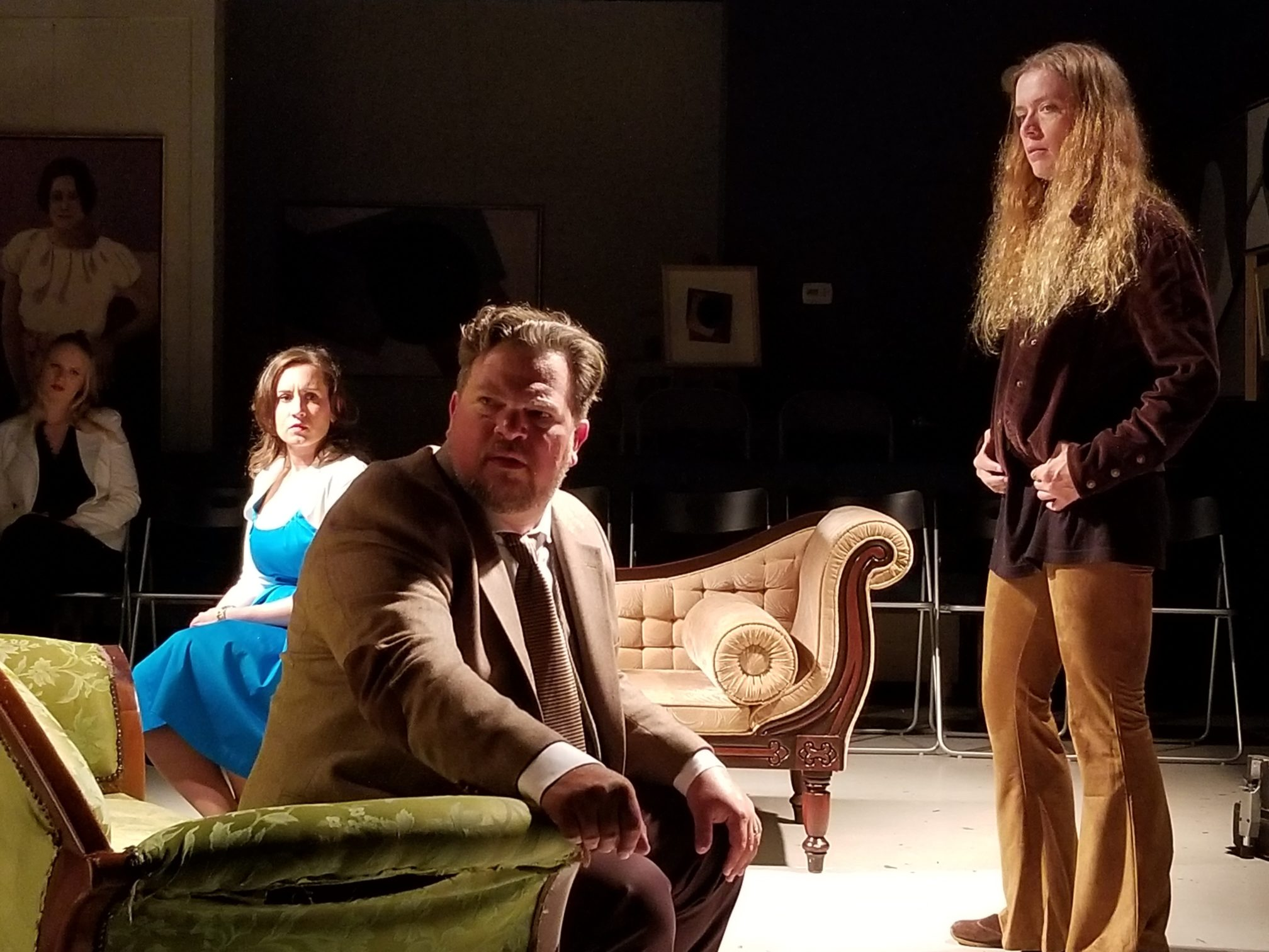 Arianne' Warner, Scott D. Pafumi, and Jane Steffen in 'No Exit.' Photo courtesy of Dark Horse Theatre Company.