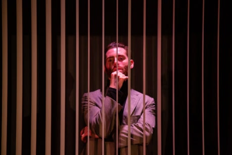Jared H. Graham as Robert in 'Betrayal' by 4615 Theatre Company. Photo by Ryan Maxwell Photography.