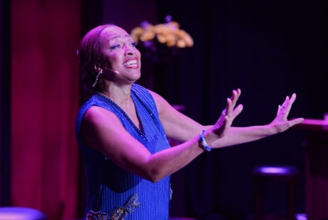 """Gabrielle Lee as Ada """"Bricktop"""" Smith in 'Bricktop' at the National Black Theatre Festival. Photo by Bruce Chapman."""