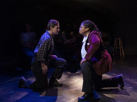 Lise Bruneau as Iago, Danielle A. Drakes as Othello. Photo by Teresa Castracane.