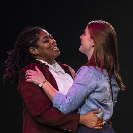 Danielle A. Drakes as Othello, Julie Weir as Desdemona. Photo by Teresa Castracane.