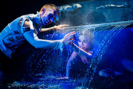 Scott Brown and Maryam Najafzada in 'The Tempest' at Synetic Theater. Photo by Johnny Shryock.