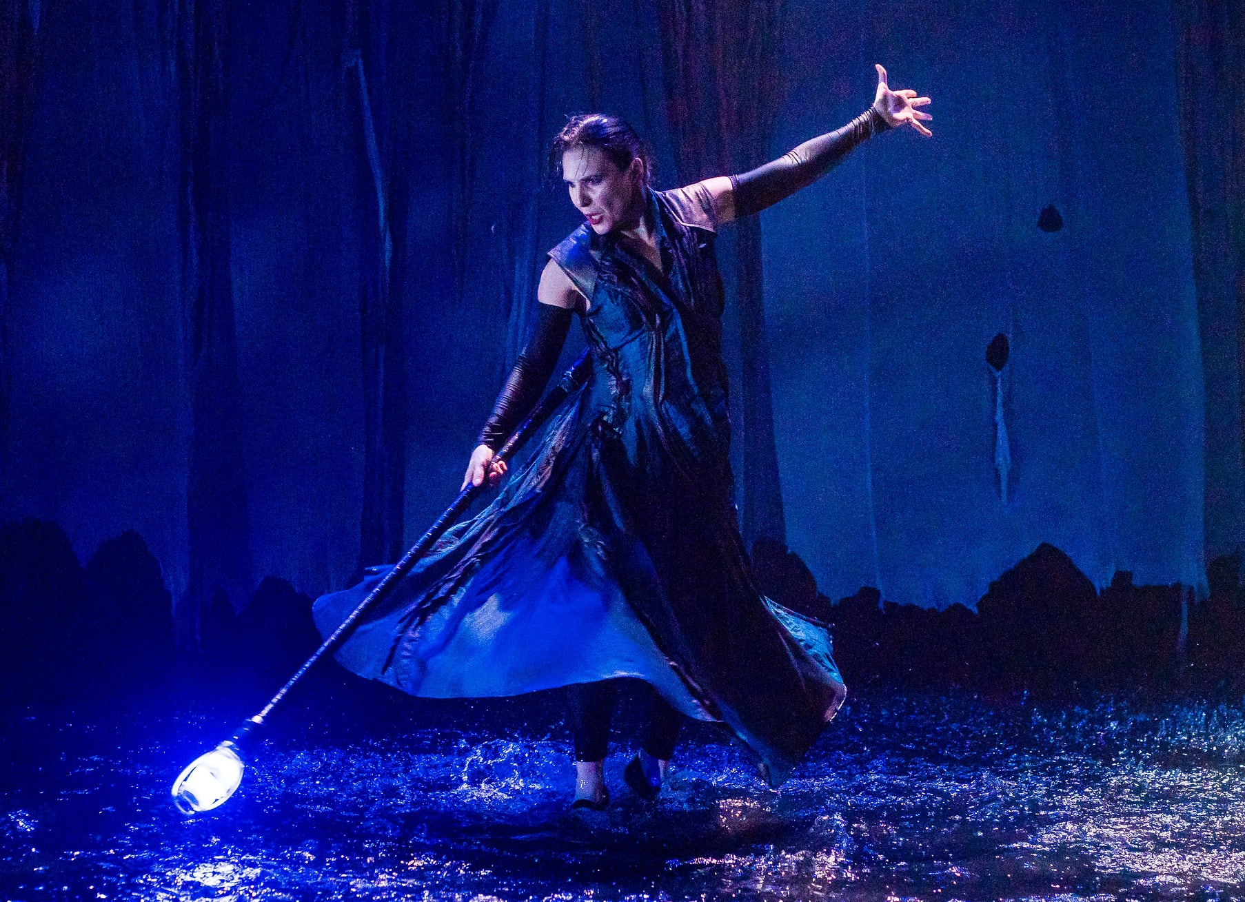 Irina Tsikurishvili as Prospera in 'The Tempest' at Synetic Theater. Photo by Johnny Shryock.