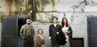 Ronald Román-Meléndez, Sylvie Davidson, Chris Johnston, and Annabelle Rollison in 'The Willard Suitcases.' Photo by Lauren Rogers Parker.