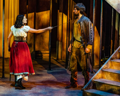Soraya Padrao and Daniel Alonso de Santos in 'Life is a Dream' at GALA Hispanic Theatre. Photo by Stan Weinstein.