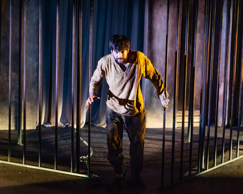 Daniel Alonso de Santos in 'Life is a Dream' at GALA Hispanic Theatre. Photo by Stan Weinstein.