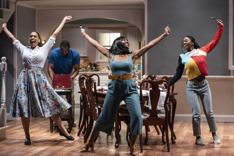 L-R: Nikki Crawford (Beverly), Samuel Ray Gates (Dayton), Shannon Dorsey (Jackie), and Chinna Palmer (Keisha) in 'Fairview' at Woolly Mammoth Theatre Company.