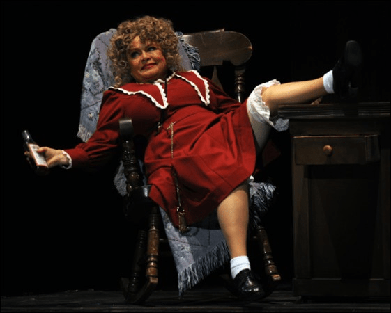 Sally Struthers as Miss Hannigan in the national tour of 'Annie.' Photo courtesy of Pittsburgh Musical Theatre.