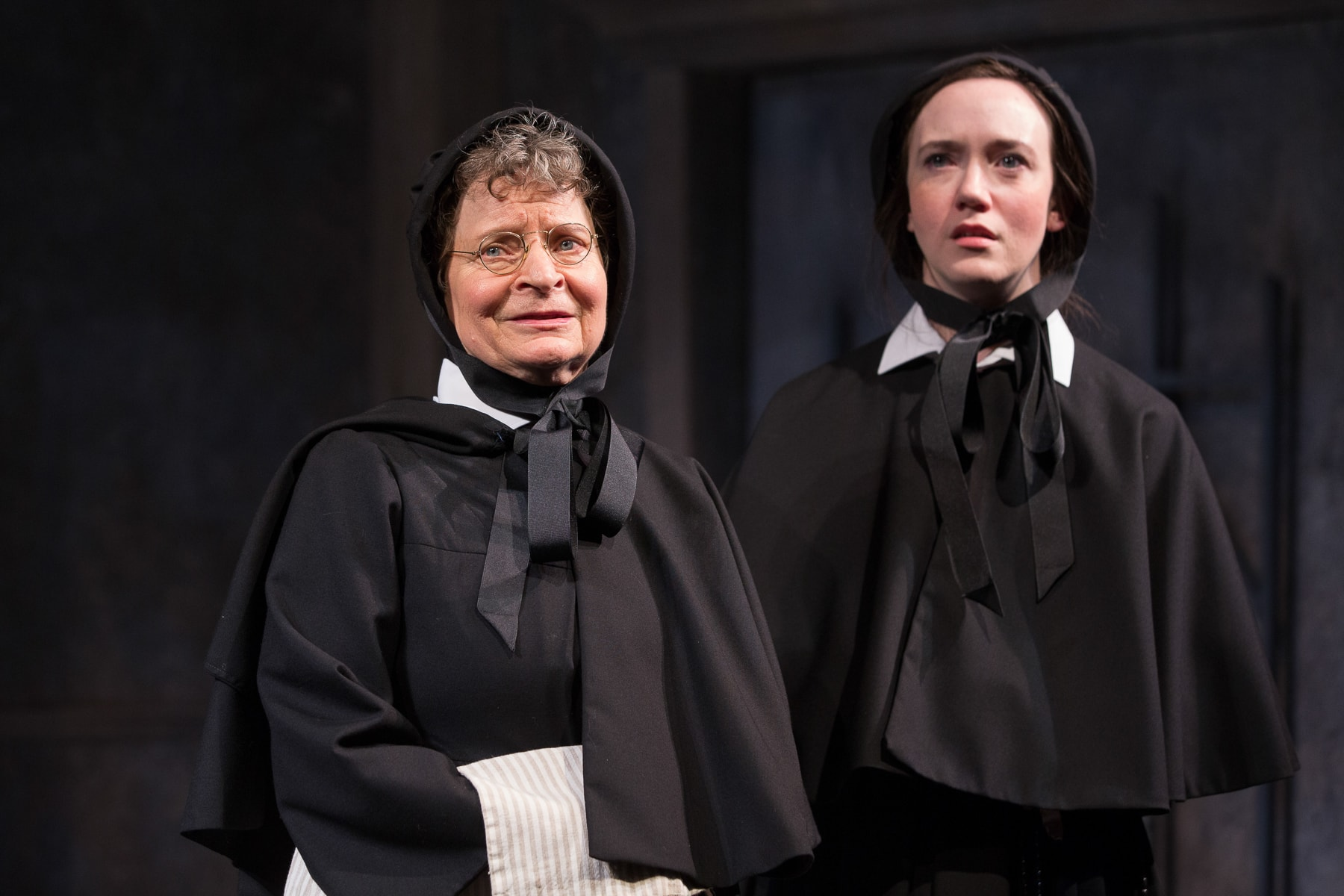 Sarah Marshall and Amelia Pedlow in 'Doubt: A Parable' at Studio Theatre. Photo by Teresa Wood.