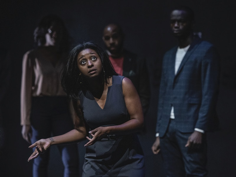 Alana Raquel Bowers and the ensemble of 'What to Send Up When it Goes Down.' Photo by Teresa Castracane.