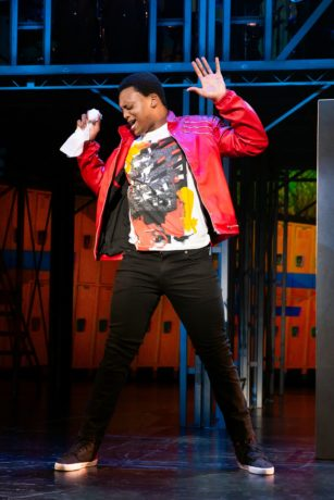 J. Quinton Johnson as Ren McCormack in The Kennedy Center's Broadway Center Stage production of 'Footloose.' Photo by Jeremy Daniel.