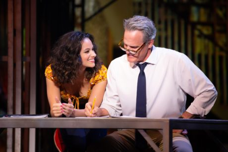 Isabelle McCalla as Ariel Moore and Michael Park as Reverend Shaw Moore in The Kennedy Center's Broadway Center Stage production of 'Footloose.' Photo by Jeremy Daniel.
