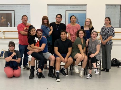 The cast of Workhouse Arts Center's 'Carrie, The Musical': Barbara Lawson, (front row) Chelsea Majors, Casey Fero, Ian Pathak, Becky Levin, Amanda Mason (back row) Michael Omohundro, Kimberly Geipel, Chris Rios, Andrea Newsome, Sydney Cluff, Christine Maxted. Photo courtesy of Workhouse Arts Center.