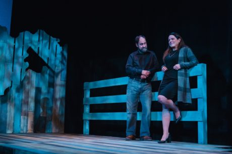 Colin Smith (Calvin) and Susan Marie Rhea (Bella) in 'West by God' at The Keegan Theatre. Photo by Cameron Whitman Photography.