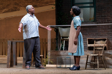 Craig Wallace as Troy Maxson and Erika Rose as Rose Maxson in 'Fences' at Ford's Theatre. Photo by Scott Suchman.