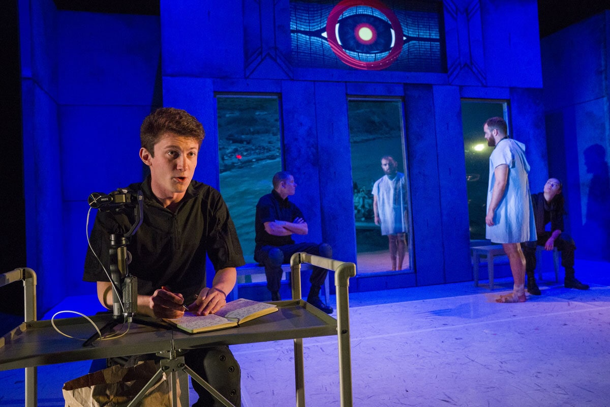 Aquila Theatre's 2019-2020 U.S. National Tour of George Orwell's '1984' (adapted for the stage by Michael Gene Sullivan). Photo by Richard Termine.