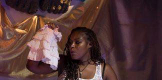Jasmine Brooks in 'The Powers That Be' at Venus Theatre. Photo courtesy of Deborah Randall/Venus Theatre.