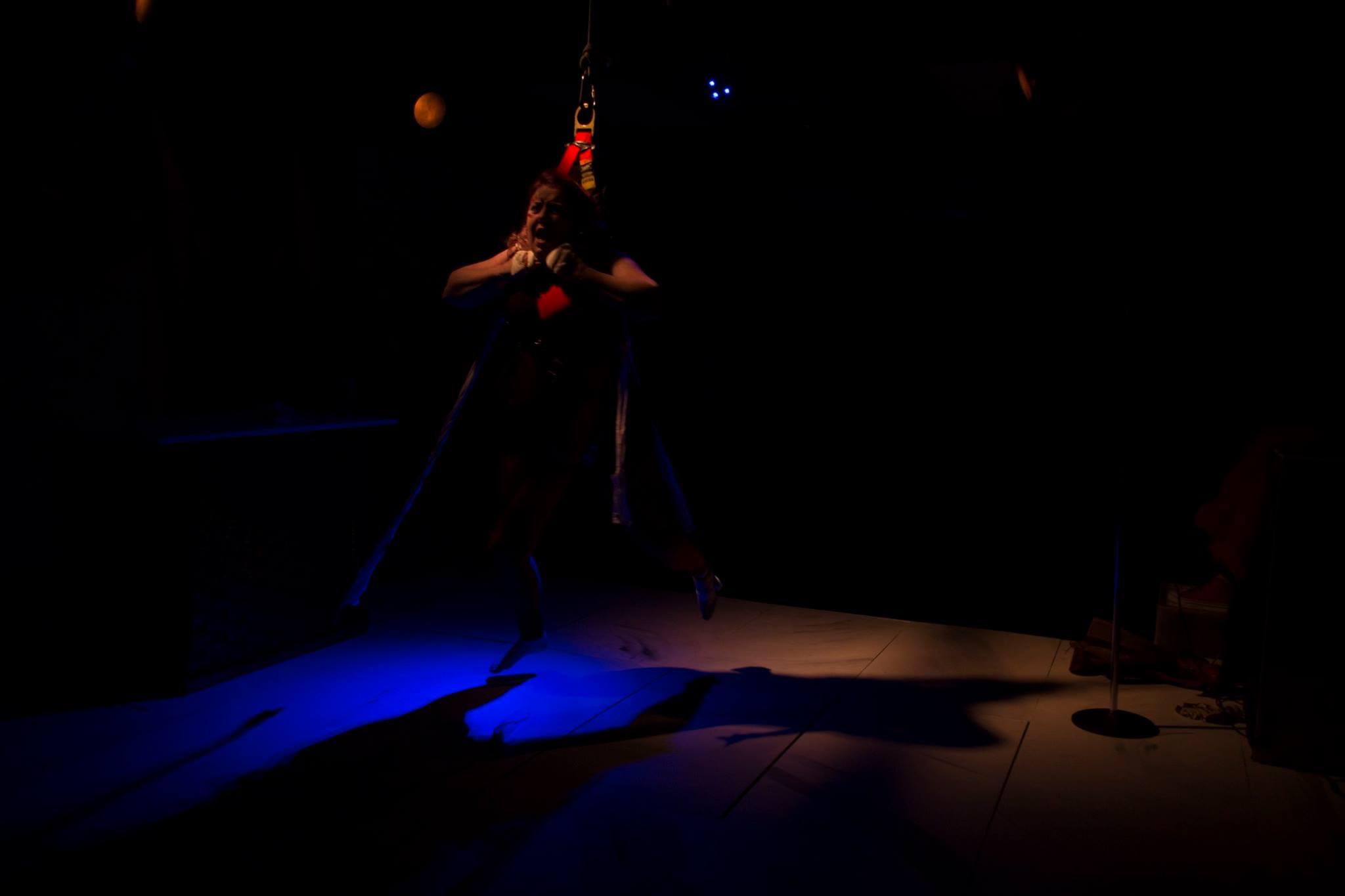 Deborah Randall in 'The Powers That Be' at Venus Theatre. Photo courtesy of Deborah Randall/Venus Theatre.