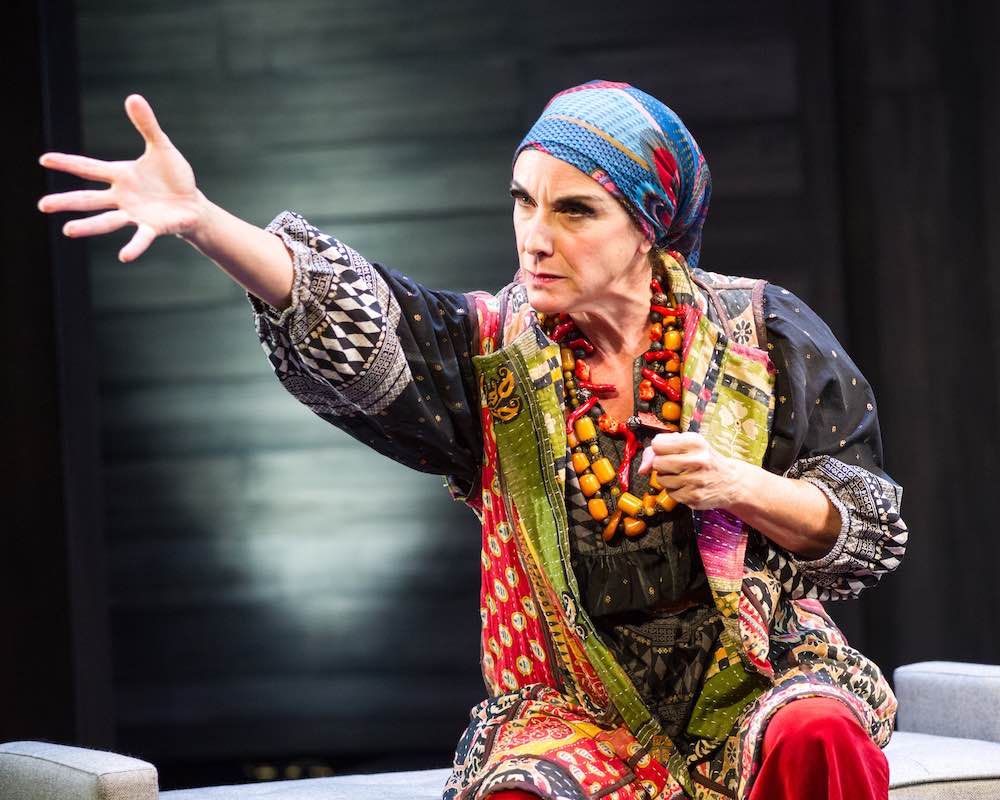 Susan Rome as Louise Nevelson in Edward Albee's 'Occupant.' Photo by C. Stanley Photography.