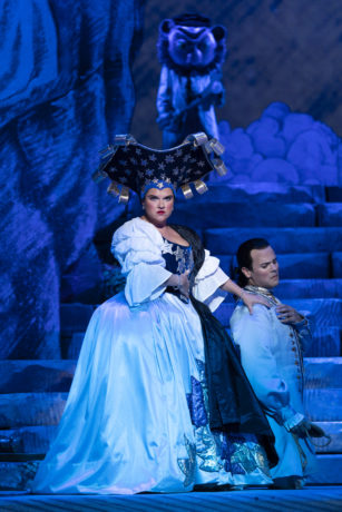 Kathryn Lewek as the Queen of the Night and David Portillo as Tamino in Washington National Opera's 'The Magic Flute' at The Kennedy Center. Photo by Scott Suchman.