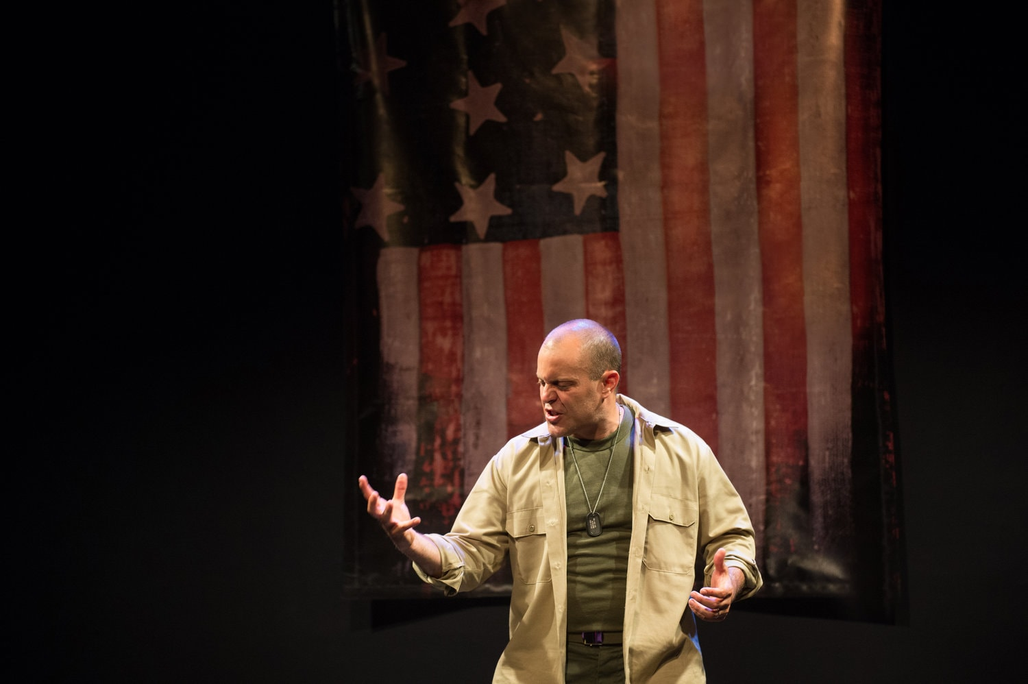 Douglas Taurel performs 'The American Soldier.' Photo by Diana Bush Photography.