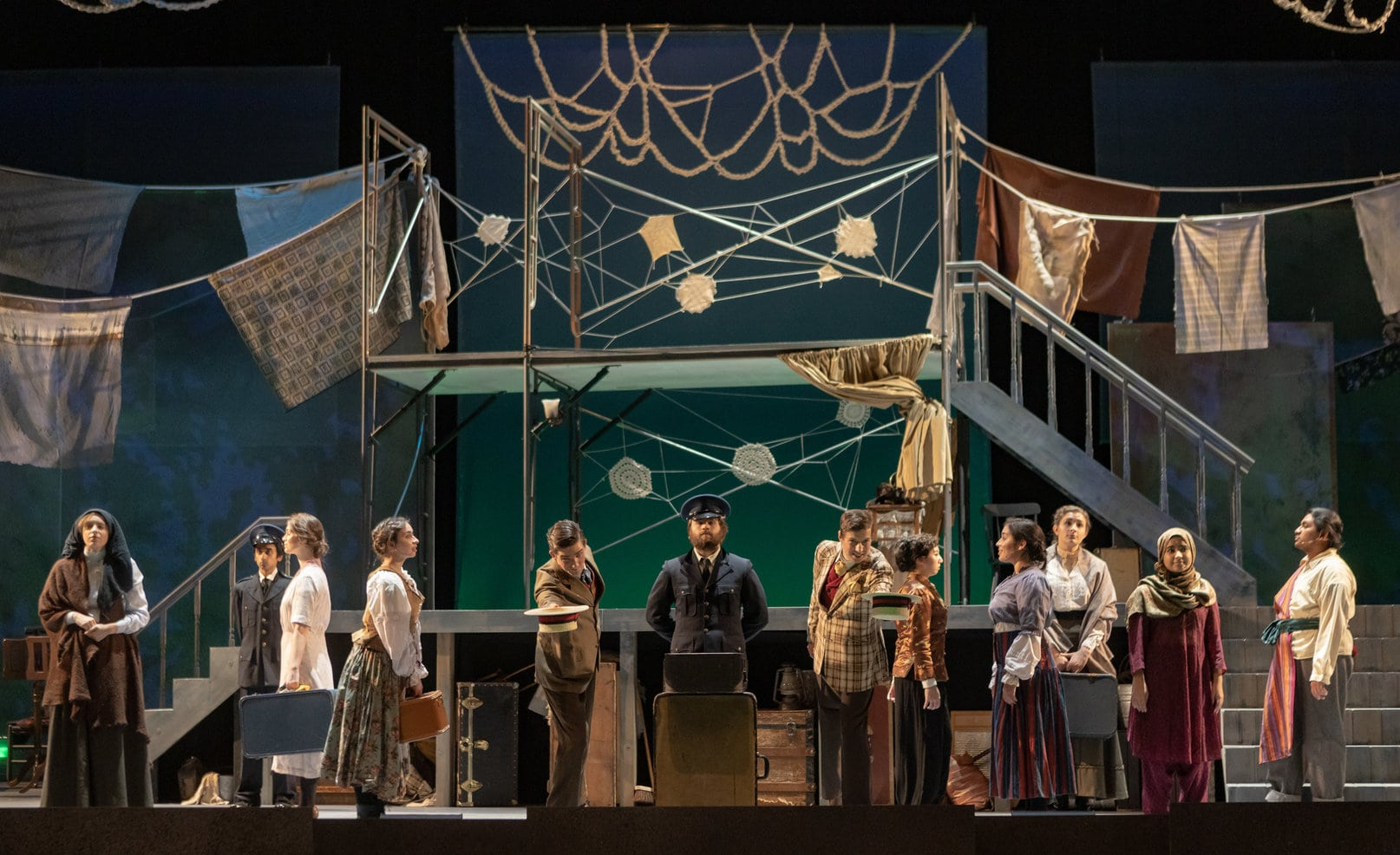The cast of 'Rags' at George Mason University. Photo by Christopher Mueller Photography.