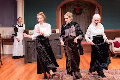 (L to R): Emily K. Collins, Stacy Whittle, Andrea Hatfield and Rosemary Regan in 'The Dead.' Photo Credit: Jae Yi Photography.