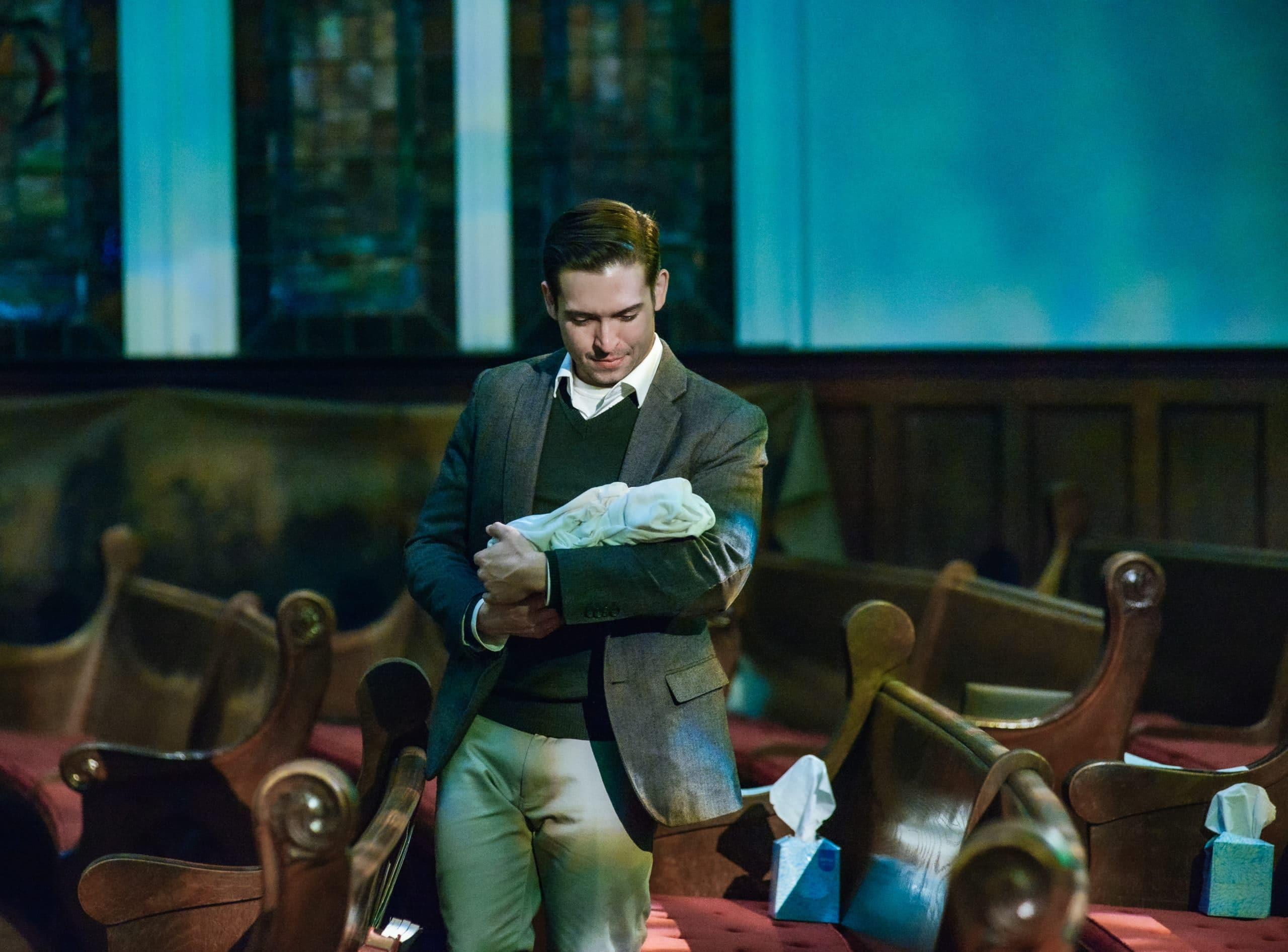 Ian McEuen as the Narrator in 'L'enfance du Christ.' Photo by RX Loft.