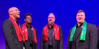 The Gay Men's Chorus of Washington performs 'The Holiday Show' through December 15 at The Lincoln Theatre. Photo courtesy of the Gay Men's Chorus of Washington.
