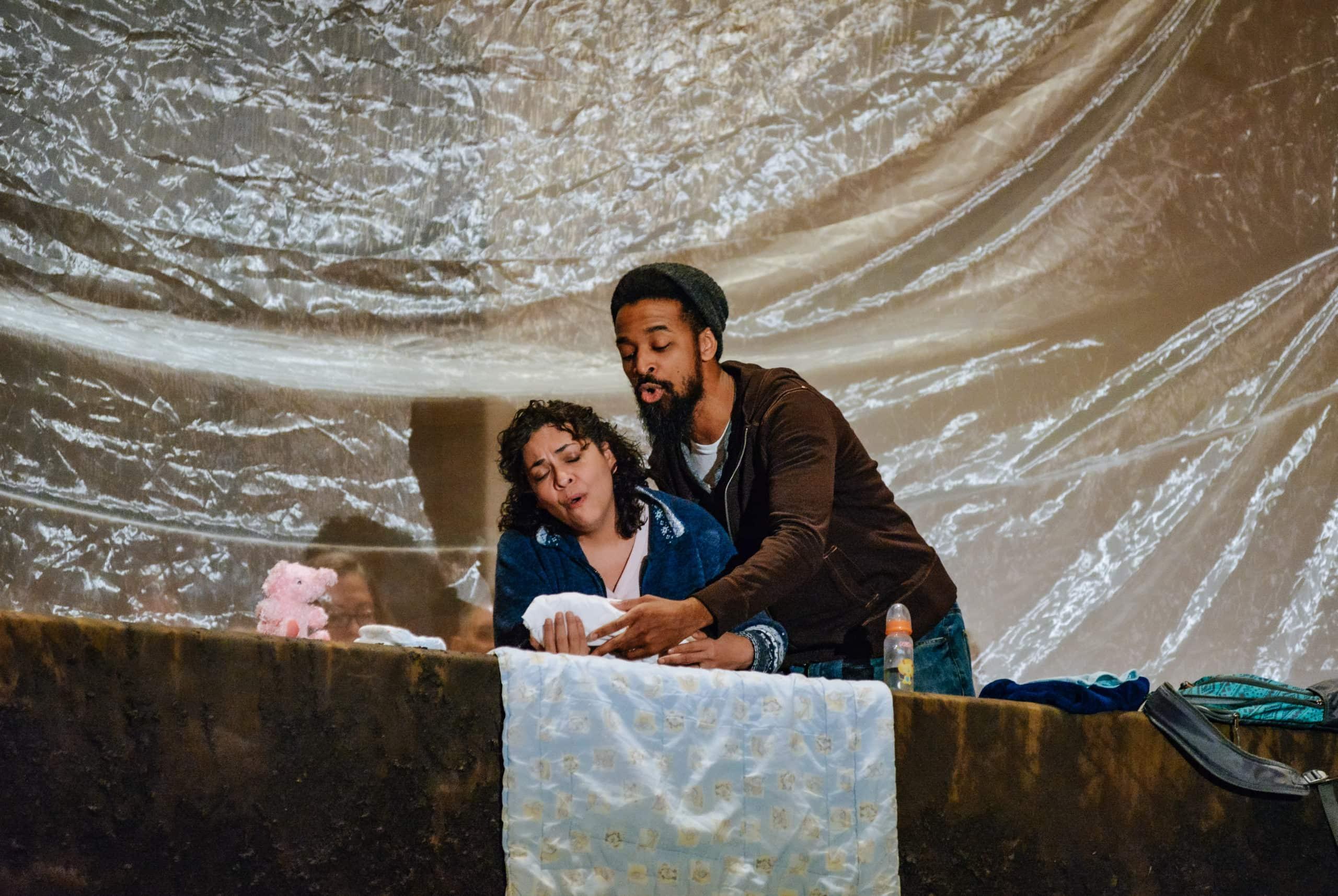Elizabeth Mondragon and Jarrod Lee in 'L'enfance du Christ.' Photo by RX Loft.