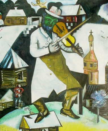 Marc Chagall's 1912 painting 'The Fiddler.' © 2014 Artists Rights Society (ARS), New York / ADAGP, Paris