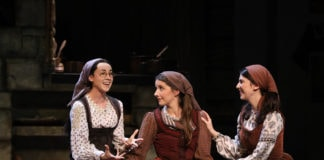 Ruthy Froch (far right) as Hodel in 'Fiddler on the Roof.' Photo by Joan Marcus.