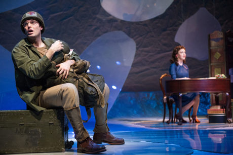 Jake Epstein as Jack and Amelia Pedlow as Louise in Ken Ludwig's 'Dear Jack, Dear Louise' at Arena Stage. Photo by C. Stanley Photography.