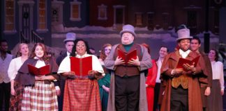 'Riverside Christmas Spectacular' performs through December 29 at Riverside Center for the Performing Arts. Photo courtesy of Riverside Center for the Performing Arts.