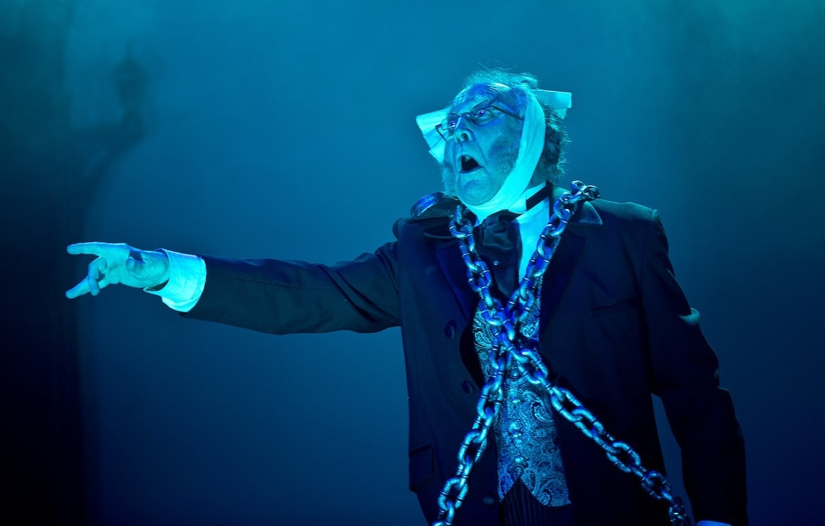 John Pruessner as Jacob Marley in 'A Christmas Carol' at Annapolis Shakespeare Company. Photo by Joshua McKerrow.