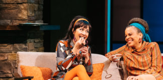 Regina Aquino and Ami Brabson in 'The Merry Wives of Windsor.' Photo by Cameron Whitman Photography.